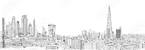 Sketch City of London business area view in 2020 Canvas