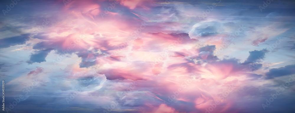 Fototapeta orange sky universe swirling abstract background