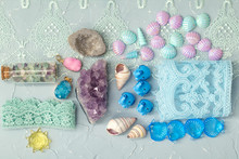 Crystals, Stones, Lace, Shells And Other Small Things For Scrapbooking And Creative Hobbies