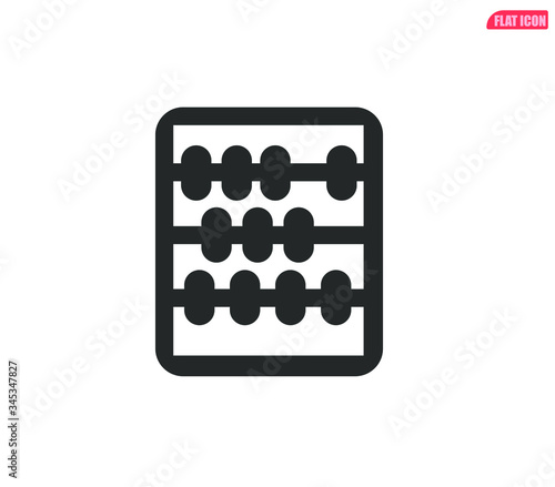 abacus icon vector sign, abacus vector icon Canvas Print