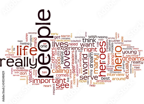 Word Cloud Summary of What Makes A Hero Article Canvas Print