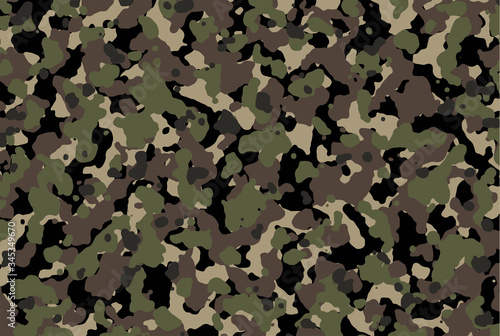Brown and green Camouflage Canvas Print