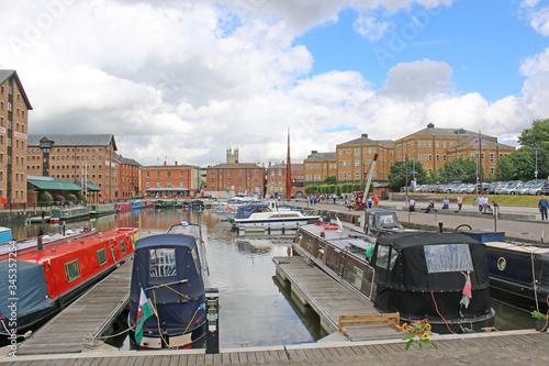 Gloucester Docks Canal Basin, England Slika na platnu