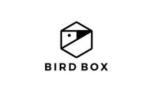 Bird And Box Logo Design Concept