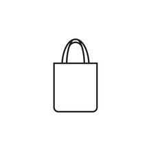 Reusable Shopping Tote Bag Icon. Vector. Line Style.