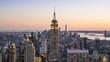 New York skyline day to night time lapse