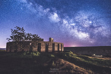 Milky Way Shot Over WWI Stonehenge Memorial In  Marysville, Washington