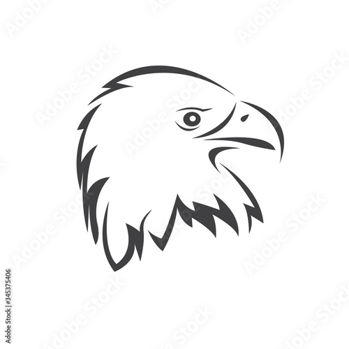 Vector Head of an Eagle Wallpaper Mural