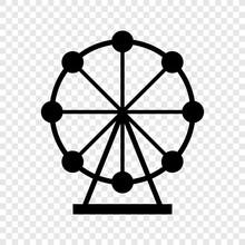 Ferris Wheel Icon On Transpare...
