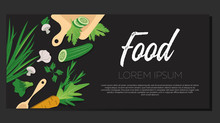 Food Banner, Organic Clean Veg...