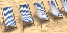 Beach Chairs Separated By Glas...