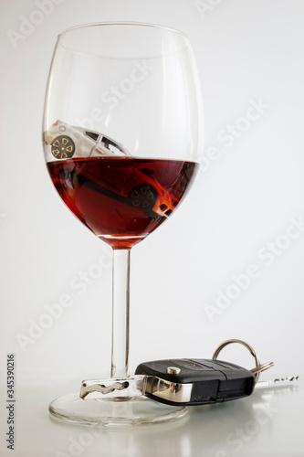 Valokuva driving drunken is risky