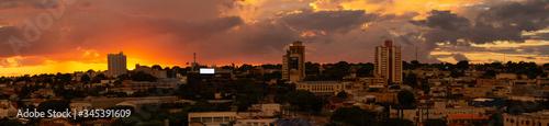 Papel de parede Panorama view of Campo Grande, Mato Grosso do Sul, Brazil