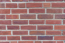 Yet Another Boring Red Brick Wall Background Texture