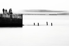 Abstract Seascape With Pier. M...