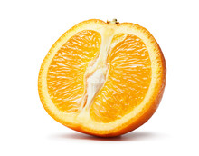 Fresh Cut Orange Fruits Macro ...