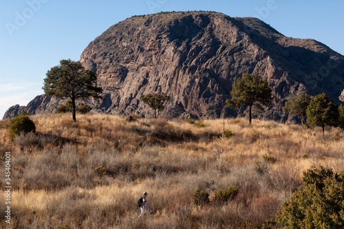 Vernon Bailey Peak from Chisos Basin;  Big Bend Nat Park;  TX Tablou Canvas