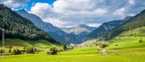 Mountains surrounding the Austrian village Nauders Canvas Print