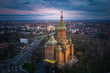 Aerial view from Timisoara Orthodox Cathedral, Bega