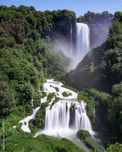 Cascata delle Marmore Billede på lærred