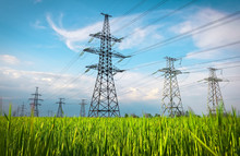 High Voltage Lines And Power P...
