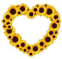 Heart Shape Floral Frame Greet...