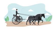 Horse Riding Illustration. Ill...