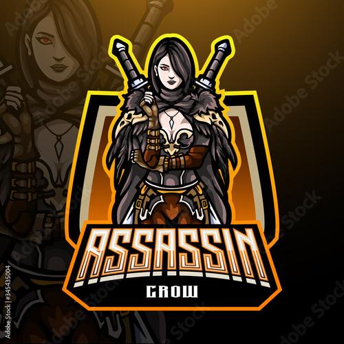 Photo Assassin  esport logo mascot design