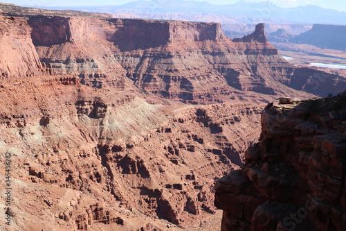 Steep canyon walls at Dead Horse Point, Utah