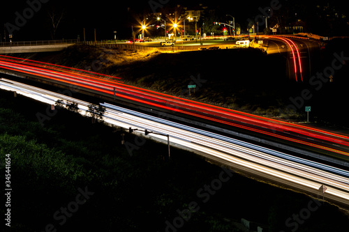Freeway Lights and Off Ramp Canvas