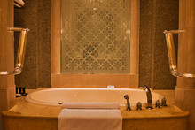 Gold Theme Bathroom