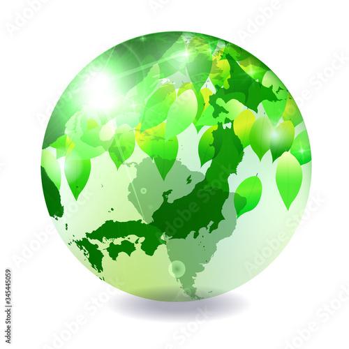 Fototapeta 地球 世界 地図 アイコン