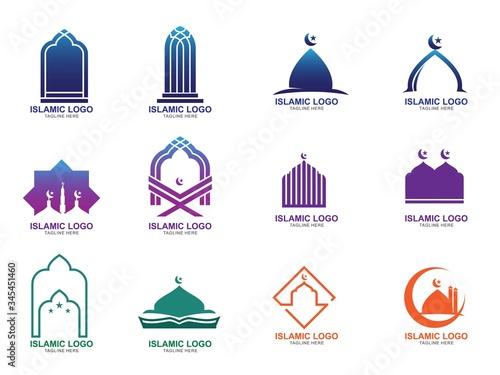 Fotomural Set of Islamic Logo Design