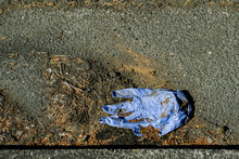 Protective Glove  Abandoned On The Street