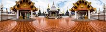 Panorama Of Wat Den Salee Sri Muang Gan Or Ban Den Temple