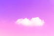 Leinwandbild Motiv soft white clouds in pink sky and purple light