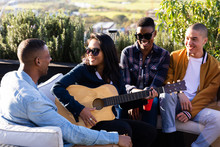 Group Of Mixed Races Friends S...