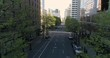 Historic aerial footage of empty streets in downtown Portland, Oregon due to COVID-19.