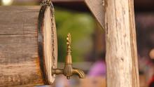 Closeup Shot Of A Wooden Barre...