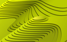 Abstract Green Field Background,rice Terrace Paper Cut Background