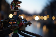 Close-up Of Love Padlocks On F...