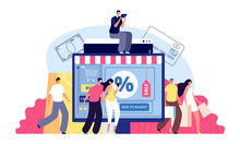 Online Shopping. Phone Shop, P...