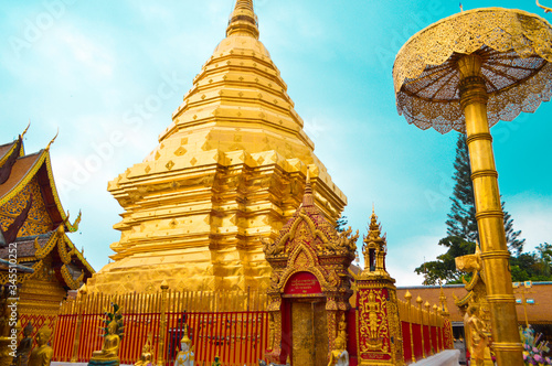 Low Angle View Of Pagoda Against Sky Wallpaper Mural