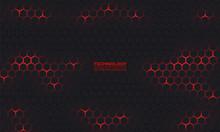 Dark Hexagonal Technology Vect...