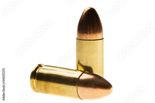 Shiny 9 mm caliber Bullets Canvas Print