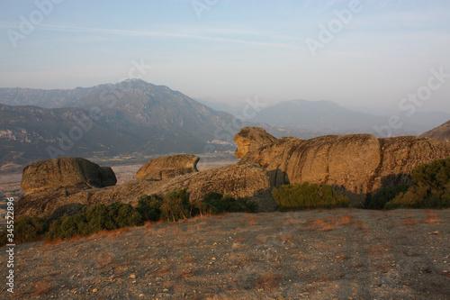 Rocky Mountains At Mt Athos Monastic Republic Wallpaper Mural