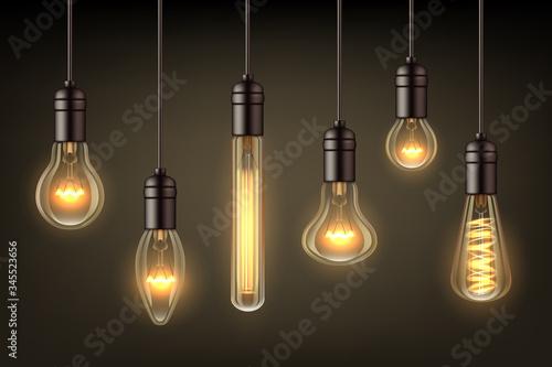 Canvastavla Glow realistic lamps
