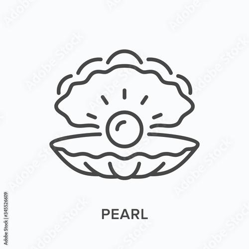 Photo Pearl line icon