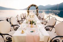 Close-up Of A Wedding Dinner T...