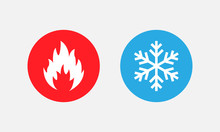 Symbol Of Warmth And Cold. Hea...